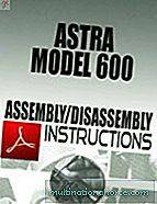 Astra Model 600 Pokyny na montáž / demontáž Download